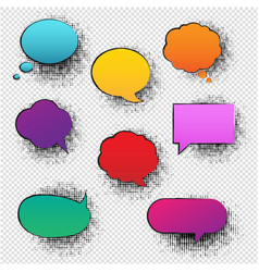 retro speech bubble transparent background vector image