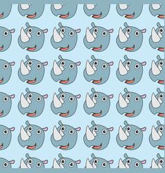 rhino seamless pattern vector image
