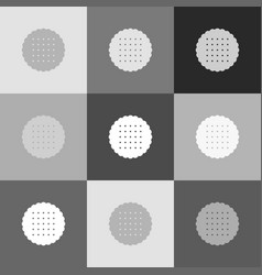 round biscuit sign grayscale version of vector image