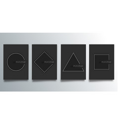 set minimal design cover with geometric vector image