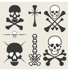 Set of different skulls vector