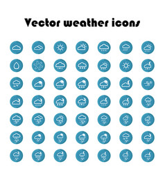 set of weather icons 49 flat signs vector image