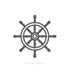 Ship wheel icon on white background vector