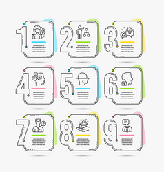 skin care unlock system and idea icons valet vector image
