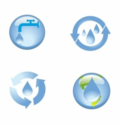 Source water protection icon symbol vector