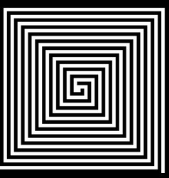 square spiral vector image