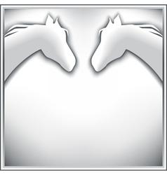 Stylish background with horses vector