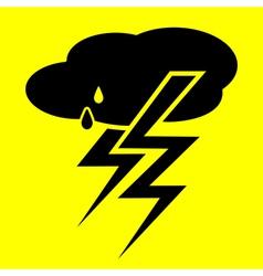 symbol thunderstorm vector image
