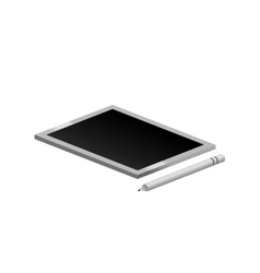 tech touch tablet with pen vector image