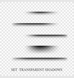 transparent realistic paper shadow effect set web vector image