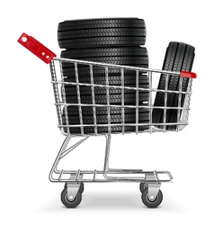 Trolley with Tires vector image