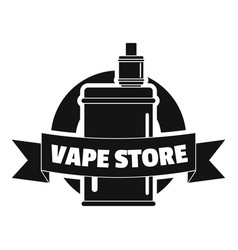 Vape new store logo simple style vector