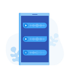 voice messages on screen phone vector image