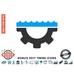 Water Service Gear Flat Icon With 2017 Bonus Trend vector image