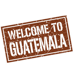 welcome to guatemala stamp vector image