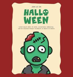 Zombie invitation card template vector