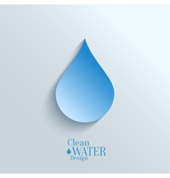 Abstract paper water drop on blue background vector