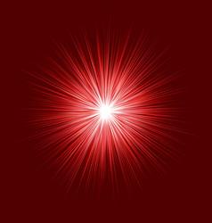 abstract red blast design on dark background vector image
