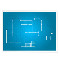 architectural background - blueprint plan vector image