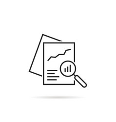 black linear document like auditing vector image
