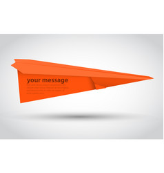orange paper airplane illsutration vector image