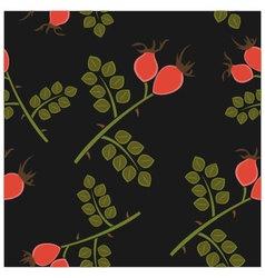 Seamless pattern rosehip vector image