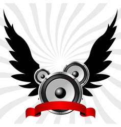 speakers with wings vector image
