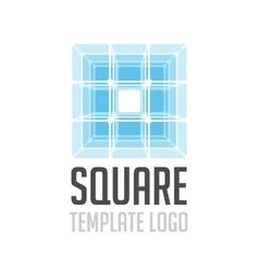 Template logo square vector image