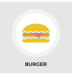Burger flat icon vector image