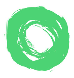 green brushstroke circle form vector image vector image