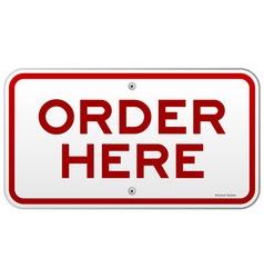 Order Here Notice vector image