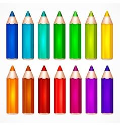 Pencil set Color vector image vector image