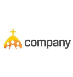 praying people logo vector image