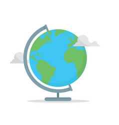 school globe concept back to school earth with vector image