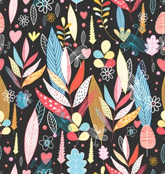 Bright autumnal pattern with leaves vector