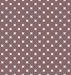 brown background fabric with white crosses vector image