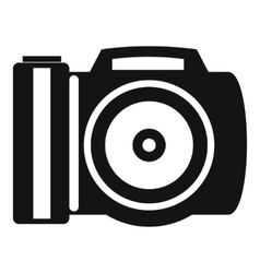 Camera icon simple style vector image