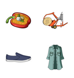clothing textiles business and other web icon in vector image vector image