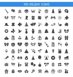 Collection holiday icons vector image