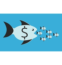 Fish eating small ones vector image