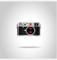 realistic vintage retro photo camera vector image vector image
