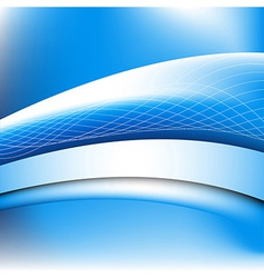 Abstract blue waves vector image vector image