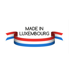 colored ribbon with the luxembourg tricolor vector image