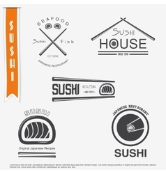 Sushi and rolls a set Japanese kitchen vector image vector image