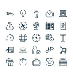 Transportation icons set collection of world cop vector