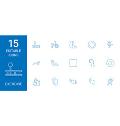 15 exercise icons vector