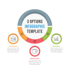 3 options infographic template vector