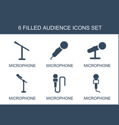 6 audience icons vector