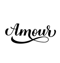 Amour calligraphy hand lettering love inscription vector