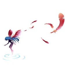 Angel fairy vector